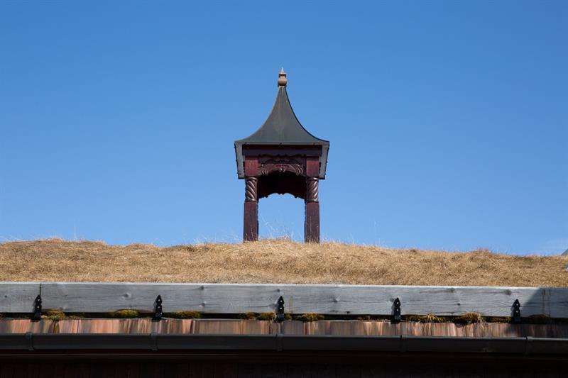 Klokketårn kan bestilles som tilvalg.