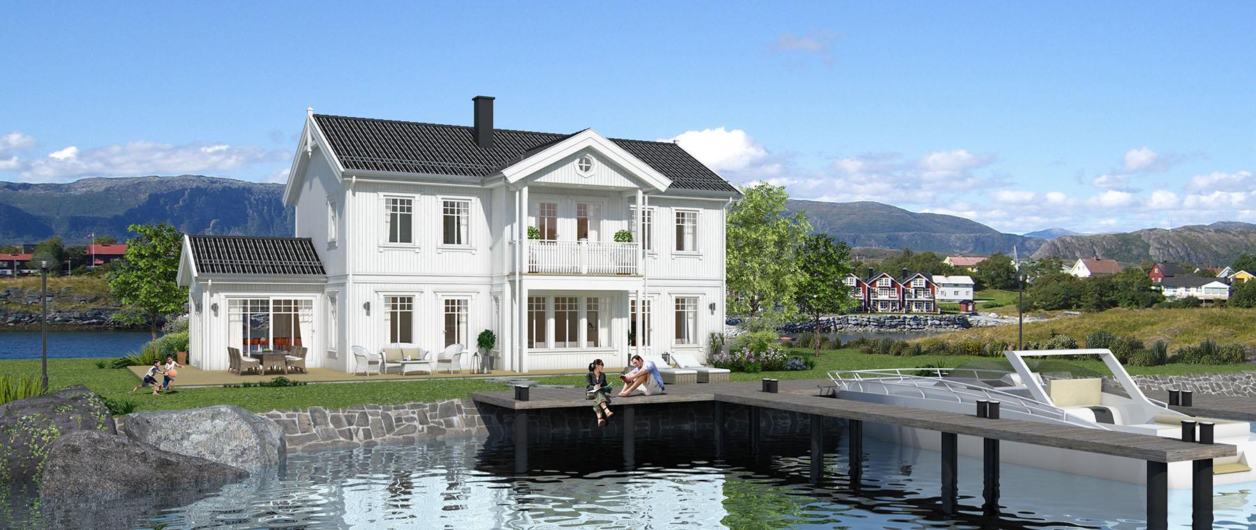 Hus 1 Norge Herregårds - serien Bergensfjord eksteriør
