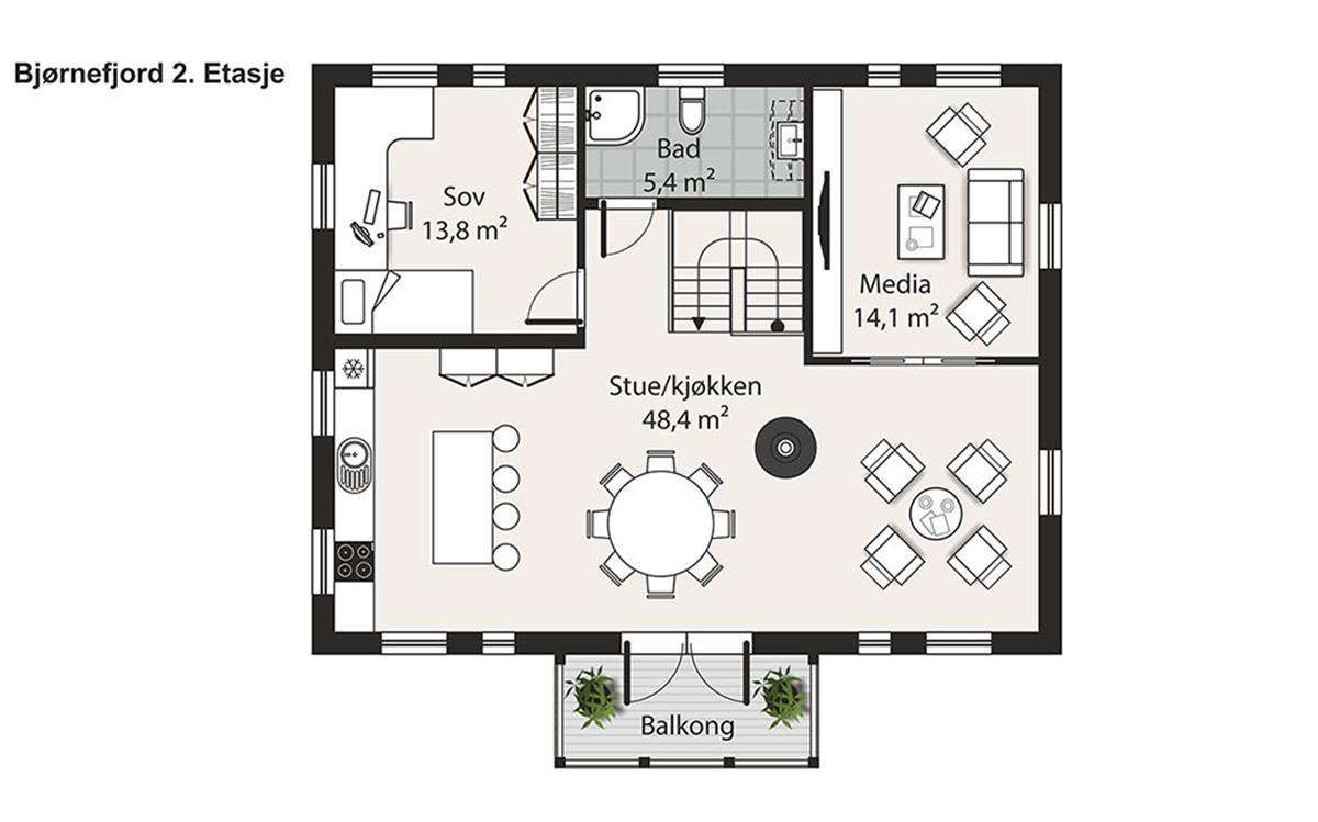 Bjørnefjord husplan etasje 2