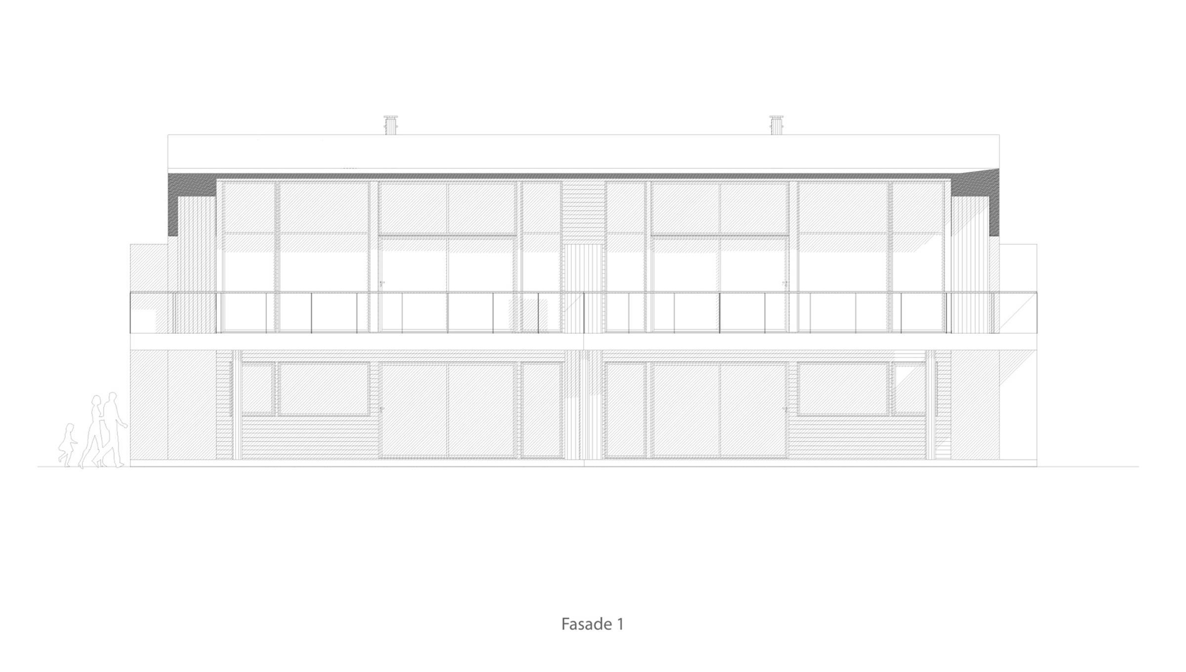 Bygdøy 4 mannsbolig  fasade 1