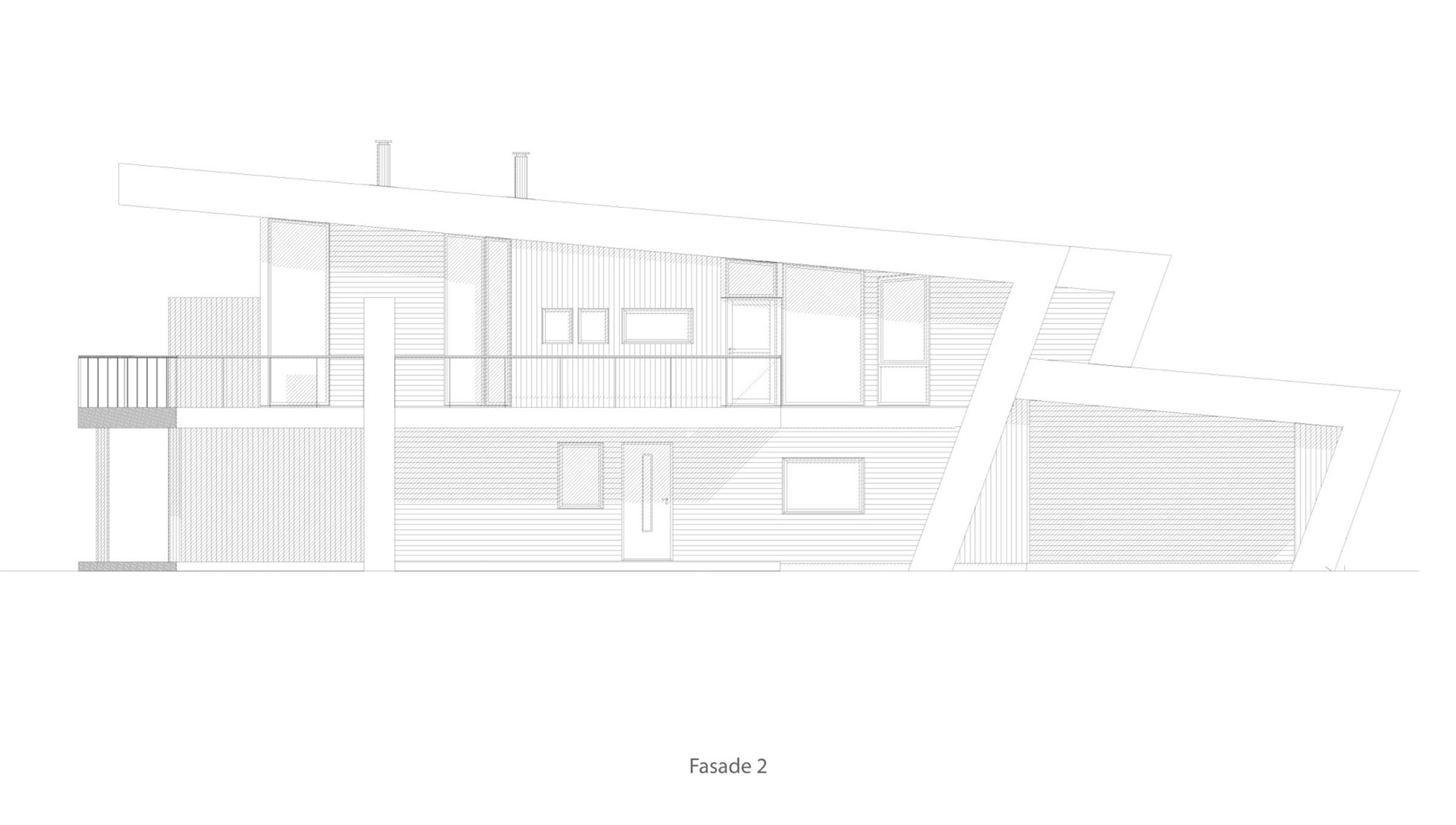 Bygdøy 4 mannsbolig  fasade 2