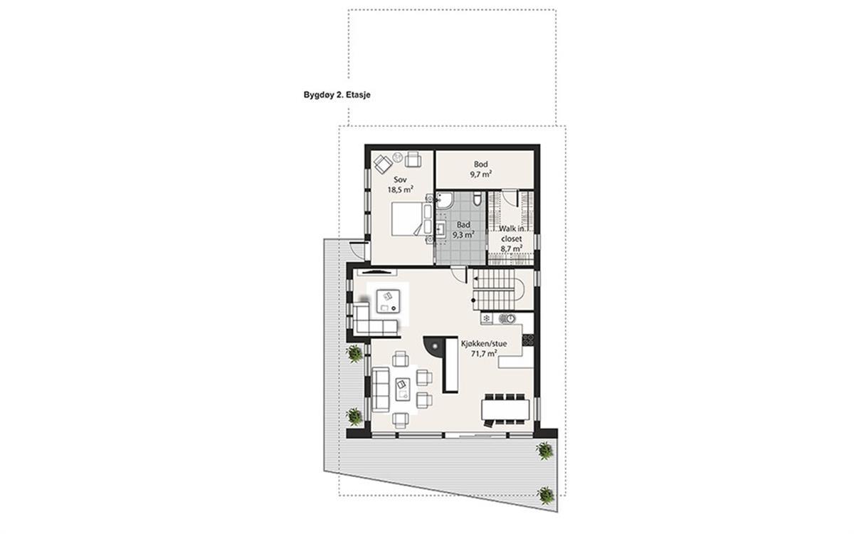 Bygdøy husplan etasje 2