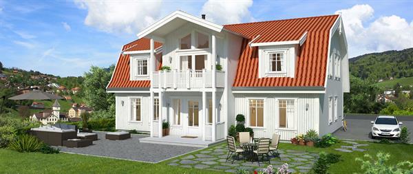 Hus 1 Norge Herregårds - serien Fanafjord eksteriør