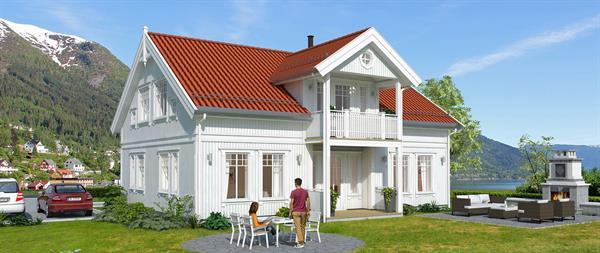 Hus 1 Norge Herregårds - serien Fensfjord eksteriør