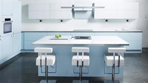 Ultra moderne kjøkken i baby blue