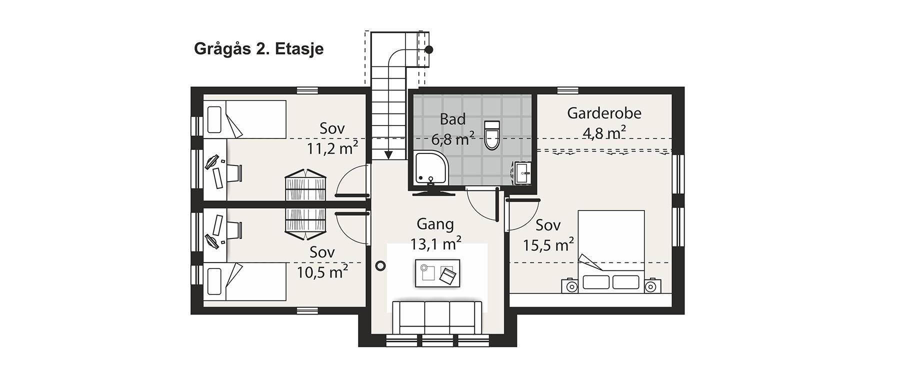 Grågås etasje 2