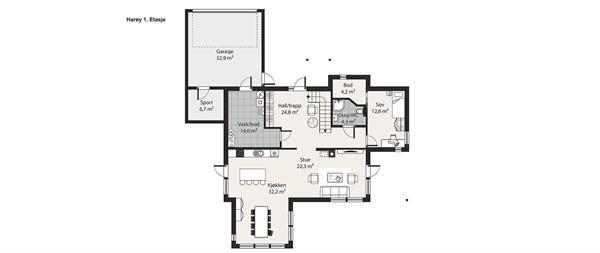 Harøy plantegning etasje 1