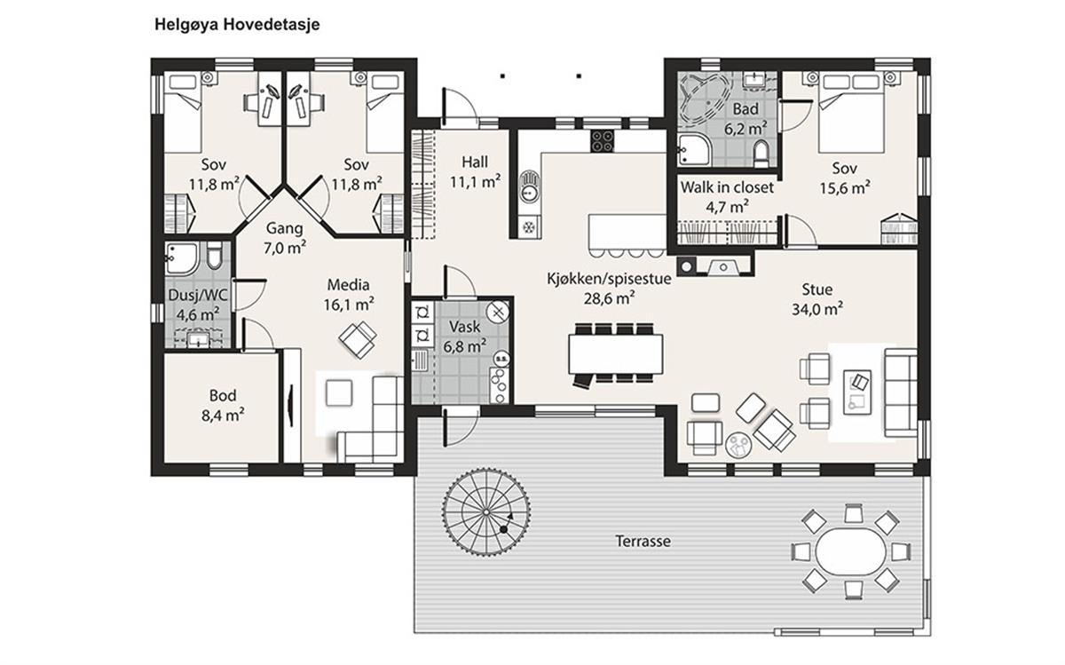Helgøya husplan hovedetasje