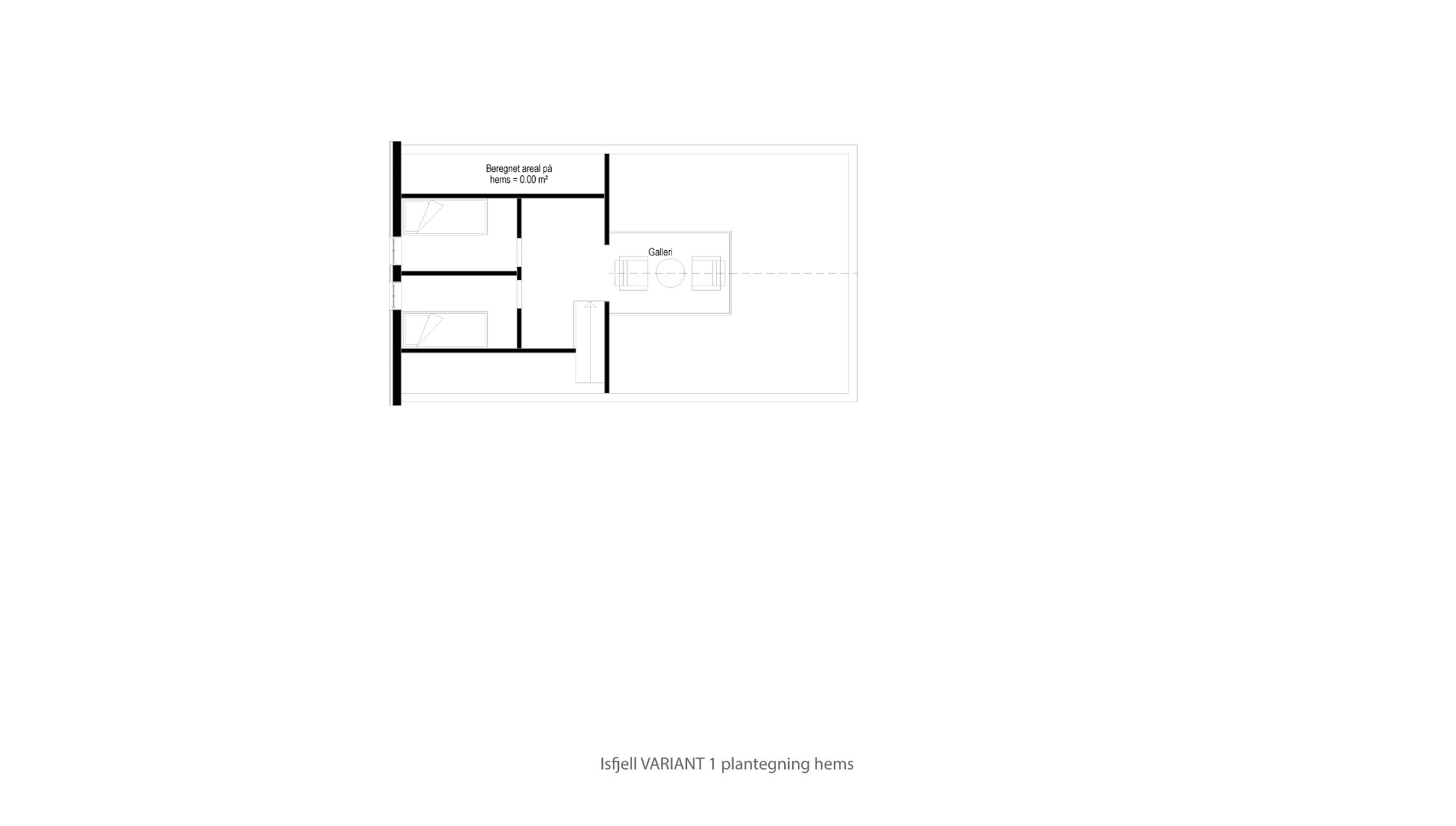 Hytte plantegning Isfjell VARIANT 1