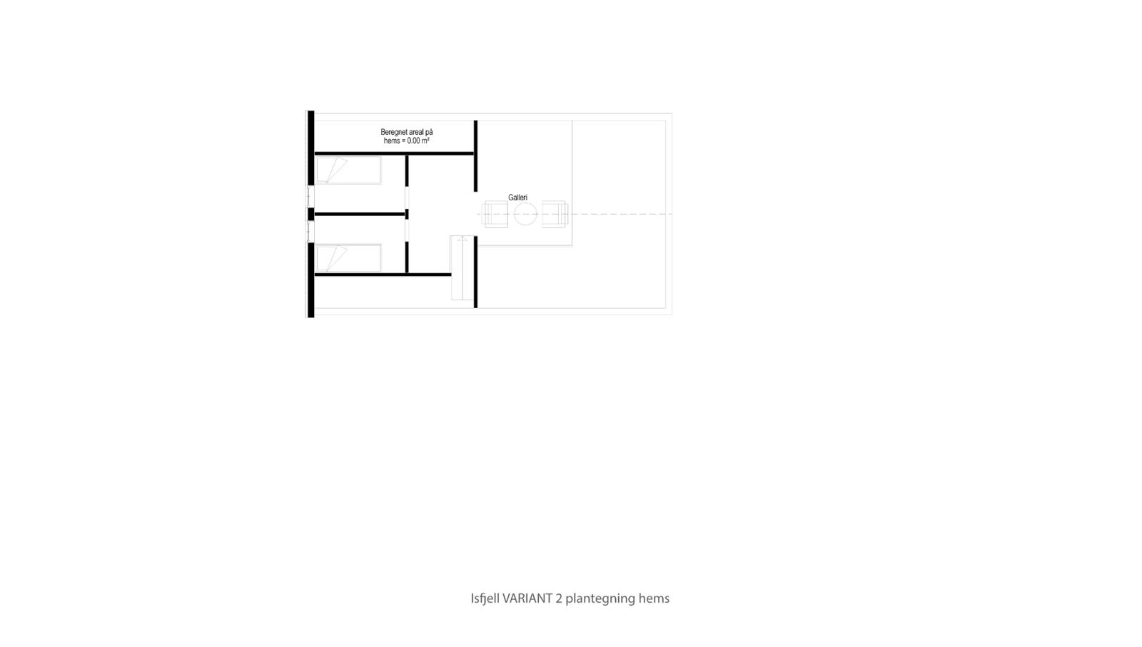 Hytte Isfjell VARIANT 2 plantegning