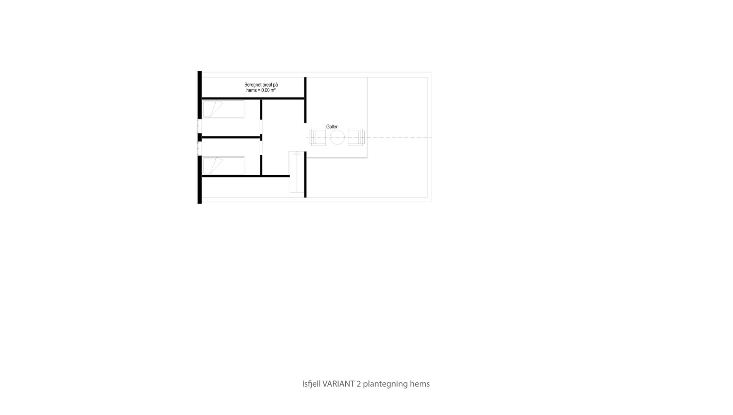 Hytte plantegning Isfjell VARIANT 2