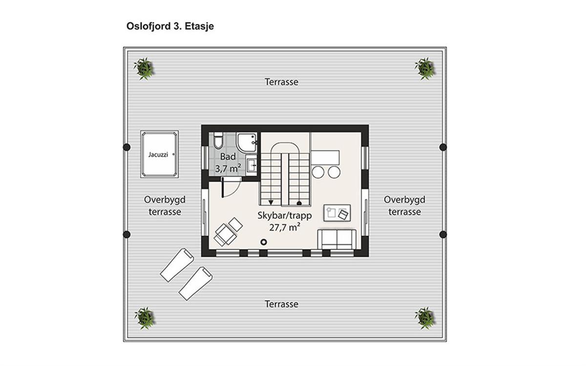 Oslofjord husplan etasje 3