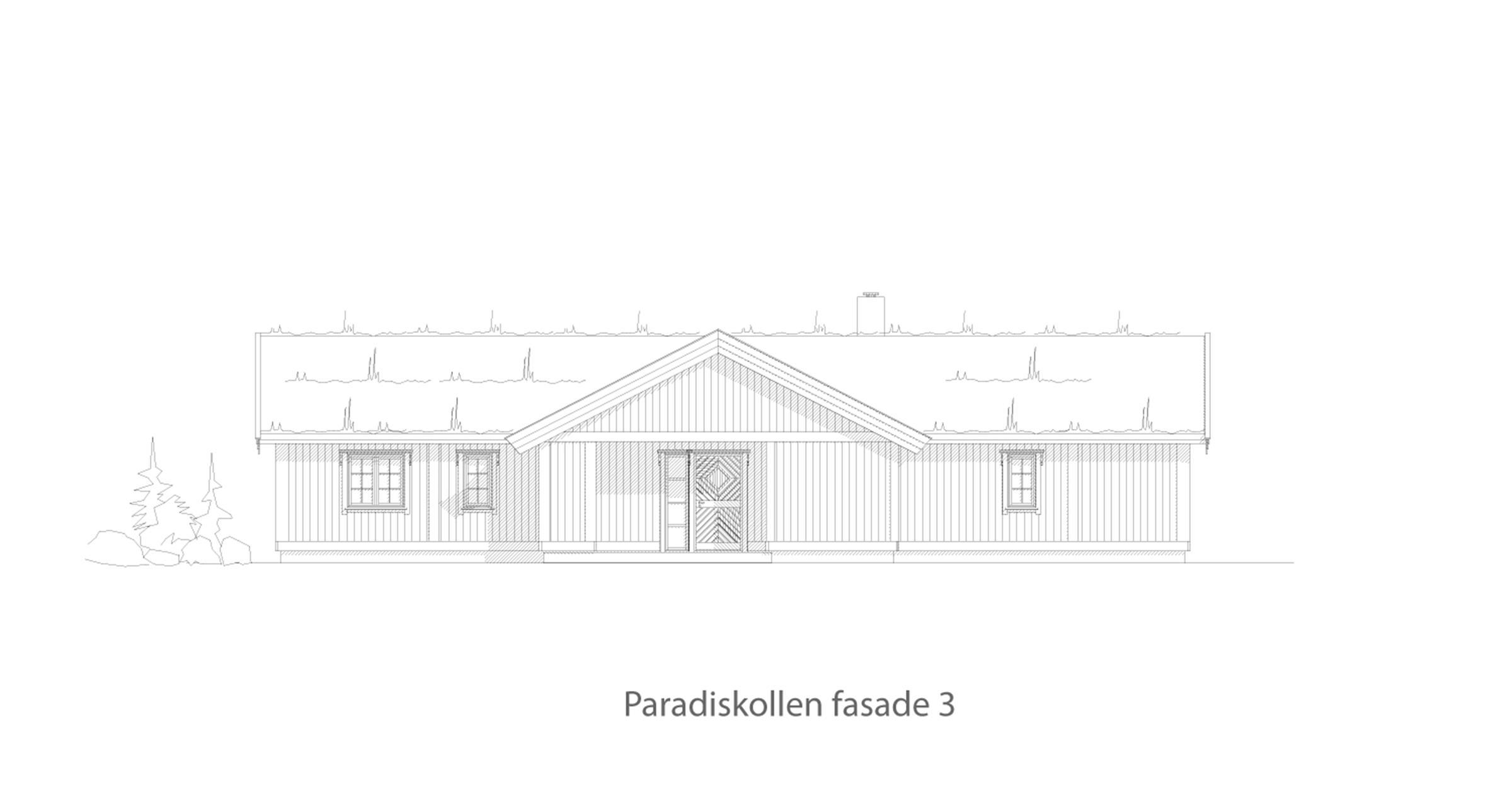 Paradiskollen fasade 3