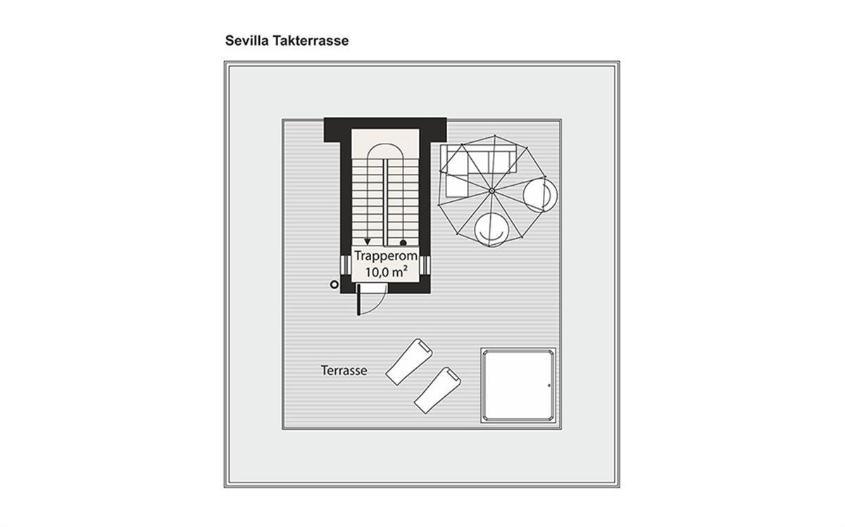 Sevilla husplan takterrasse