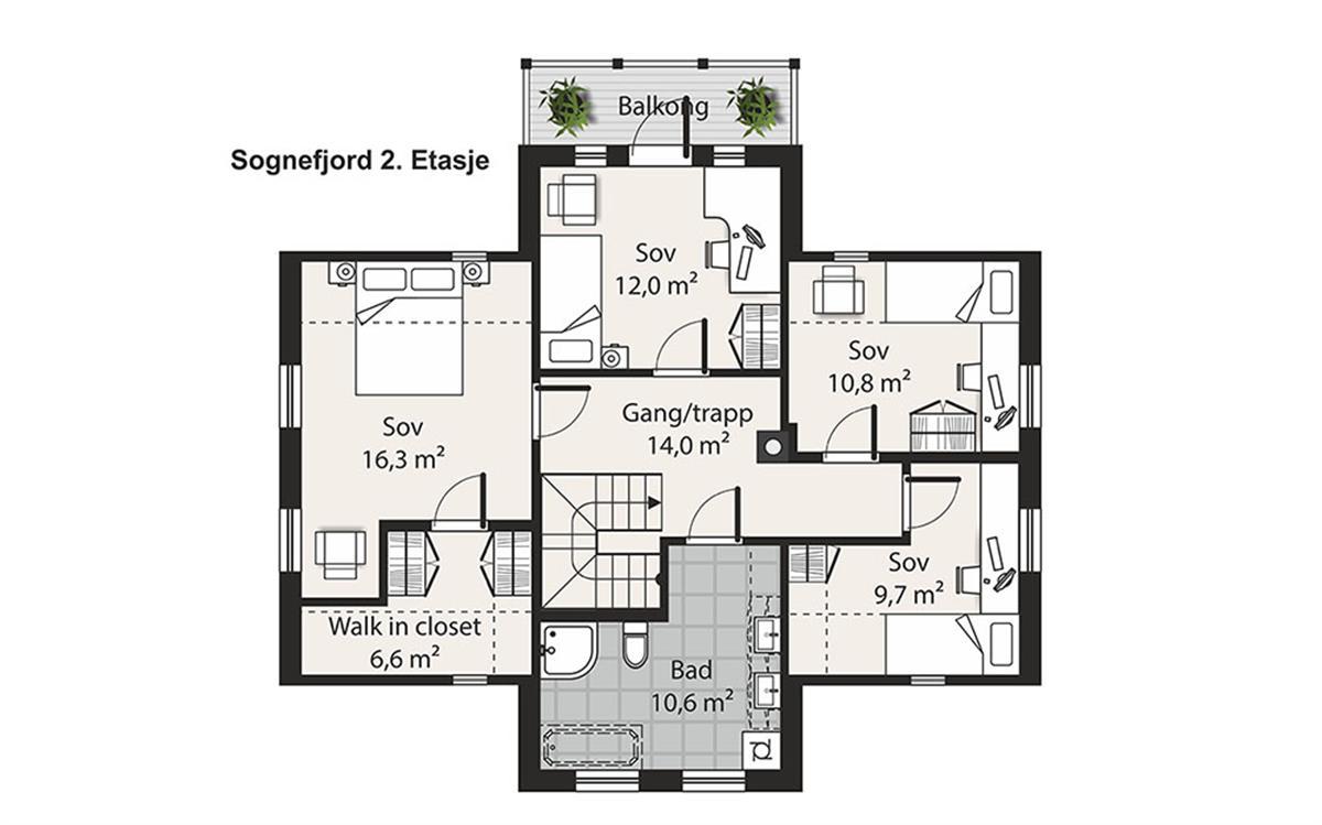Sognefjord husplan etasje 2