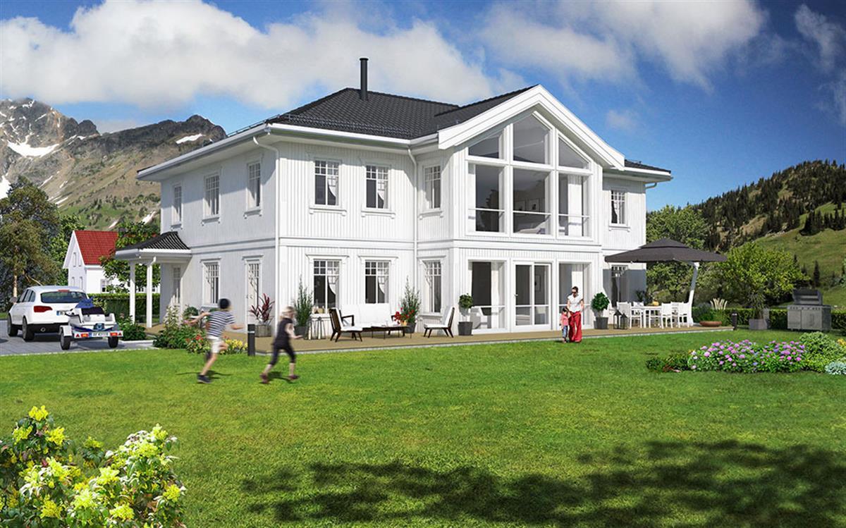 Hus 1 Norge Herregårds - serien Tanafjord eksteriør md