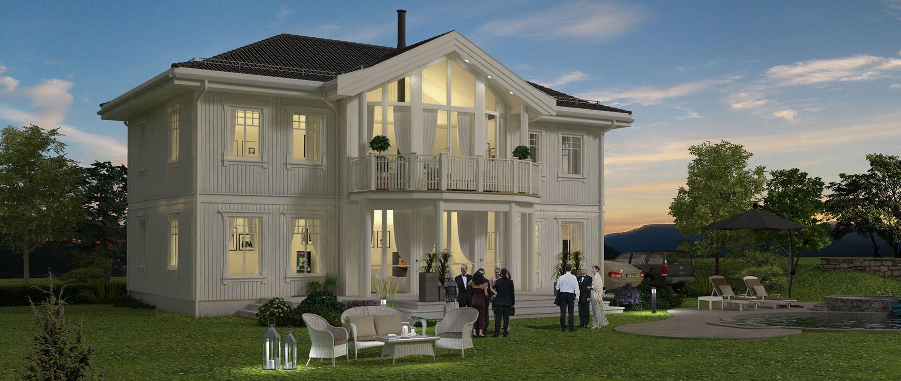 Hus 1 Norge Herregårds - serien Tingvollfjord eksteriør