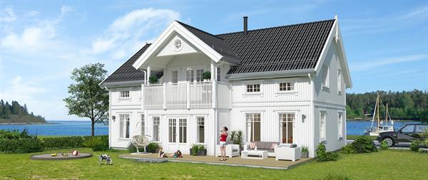 Hus 1 Norge Herregårds - serien Trollfjord eksteriør
