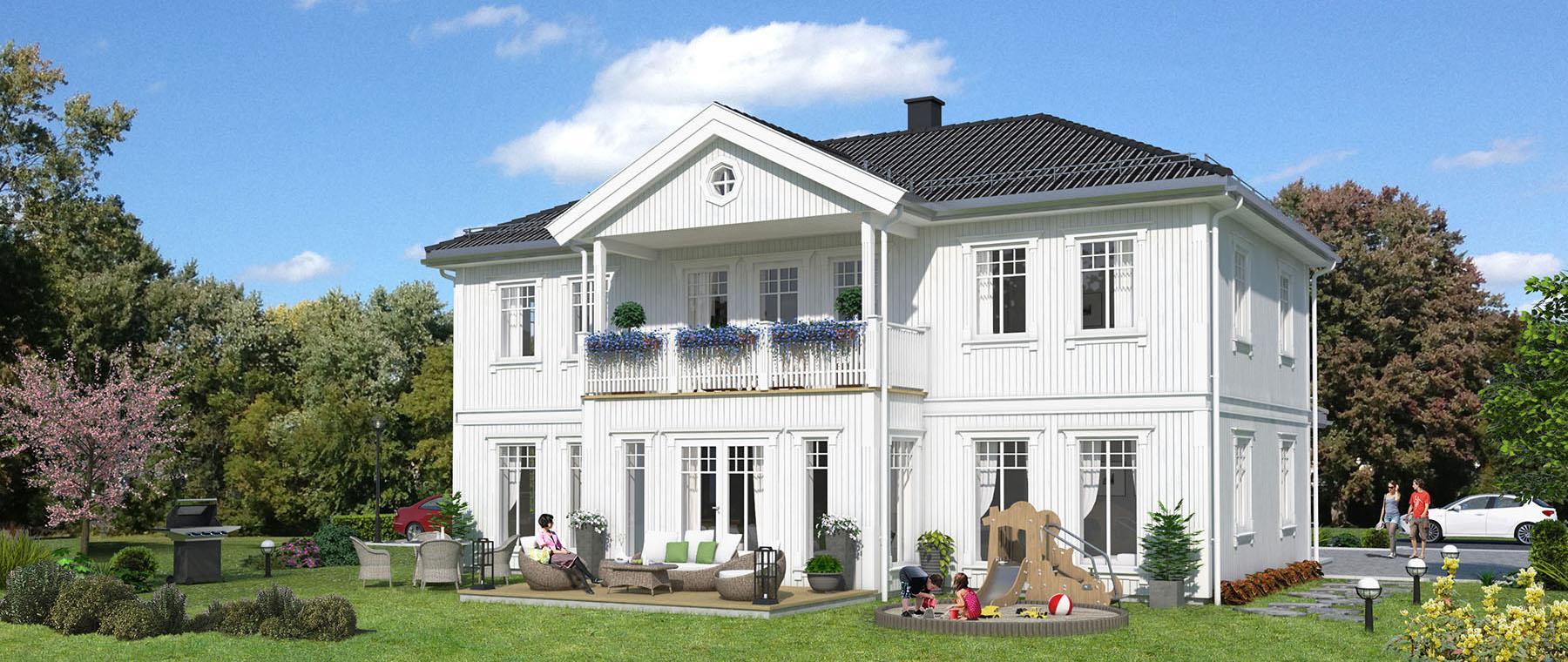 Hus 1 Norge Herregårds - serien Vågsfjord eksteriør