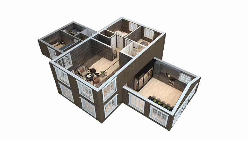 Hytte Veotinden 3D plan