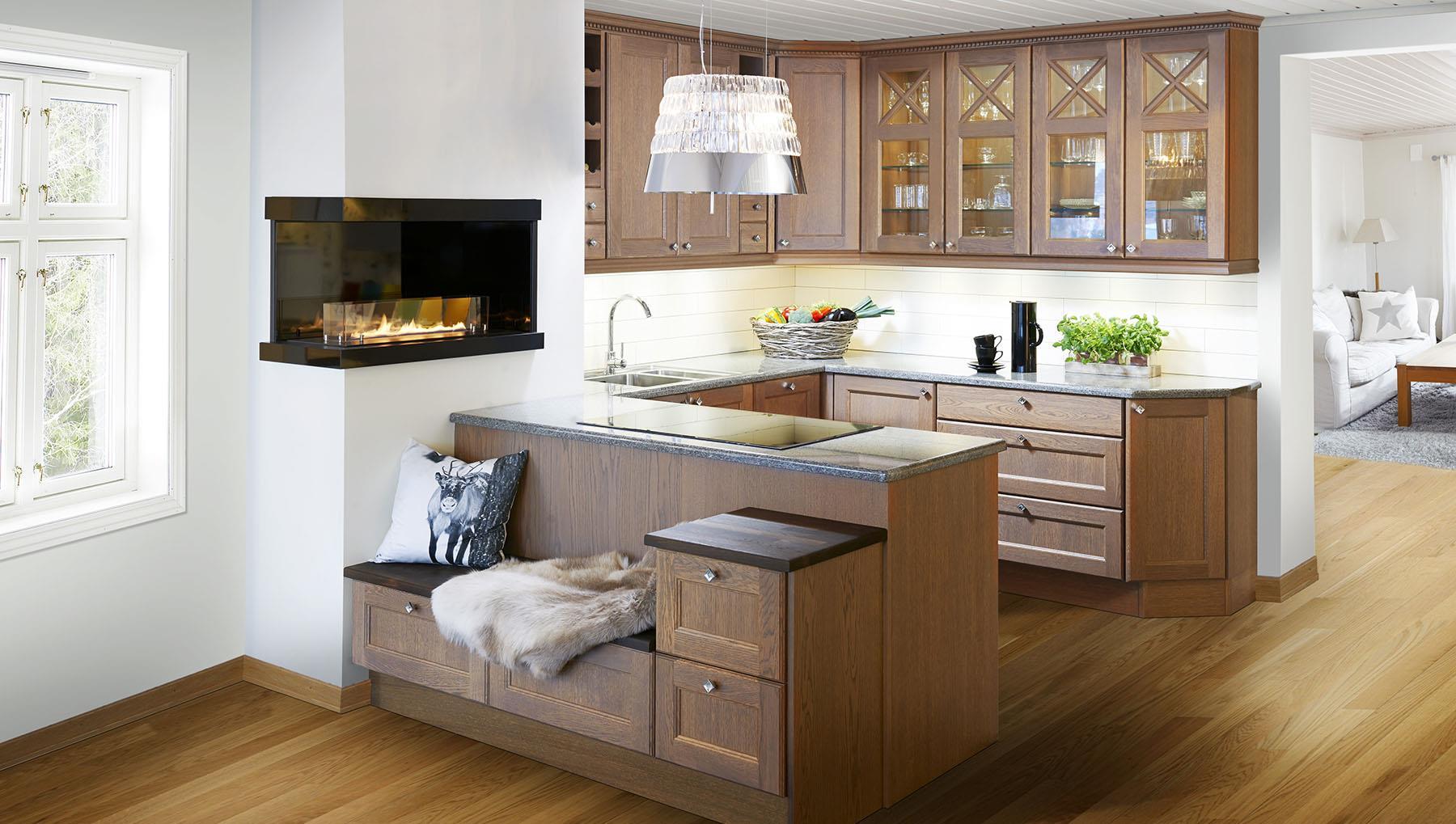 Kjokken Med Sittebenk # Fmlex com> Beste design inspirasjon for hjemmerom arrangement