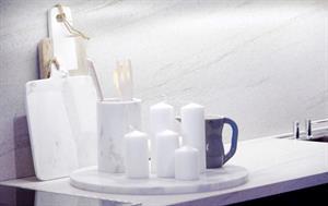 Kjøkken med marmor detaljer
